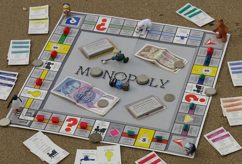 Classic monopoly game board
